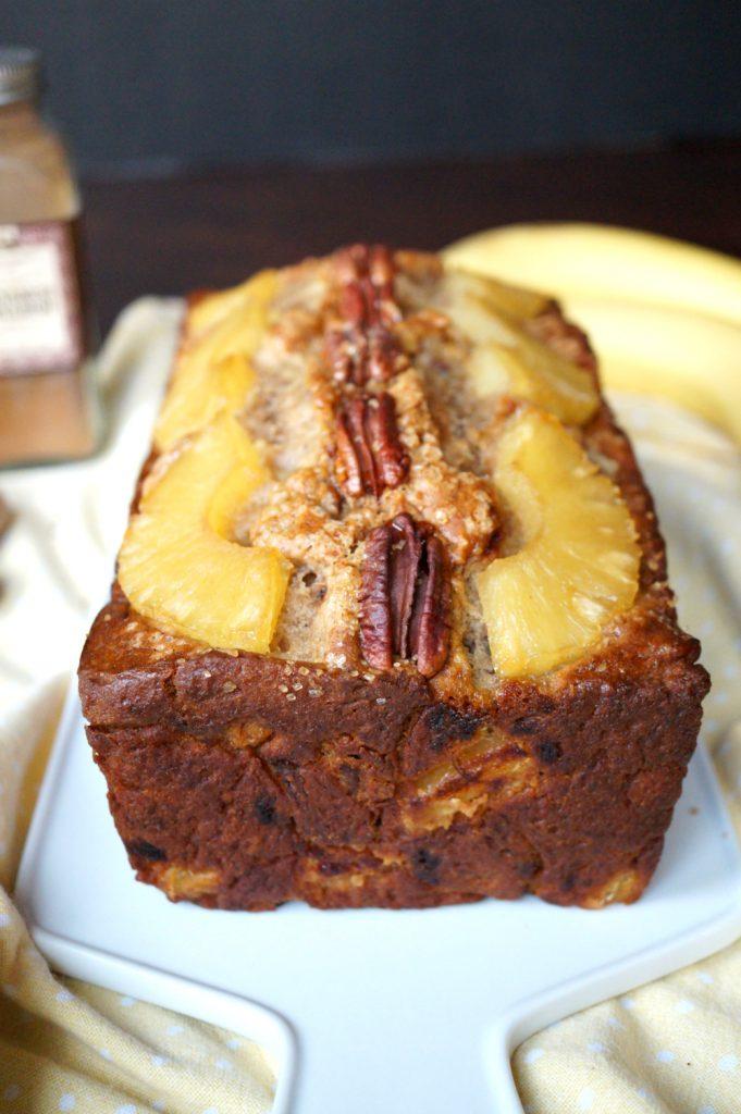 vegan hummingbird bread {banana, pineapple & pecan}