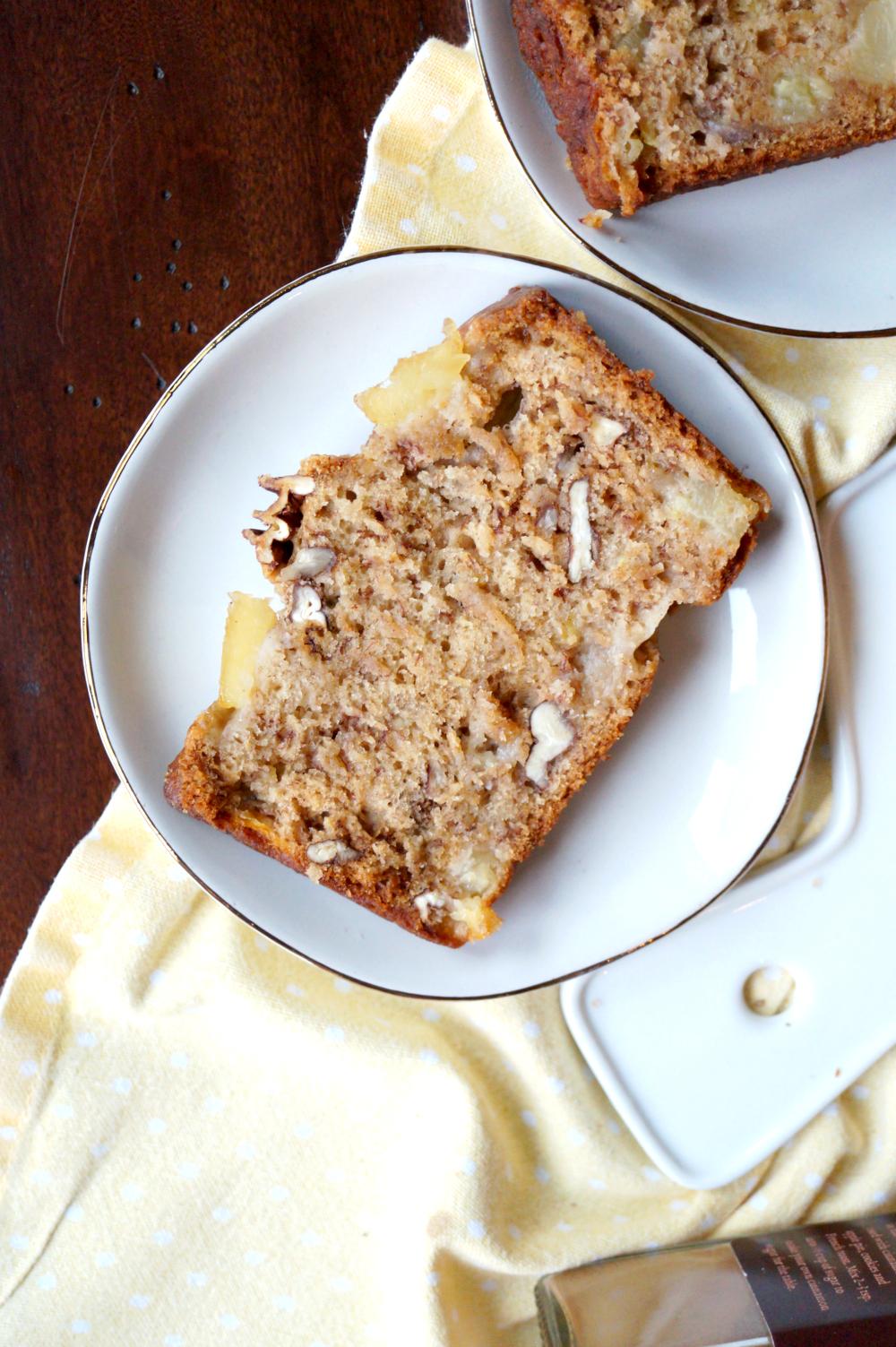 vegan hummingbird bread {banana, pineapple & pecan}   The Baking Fairy