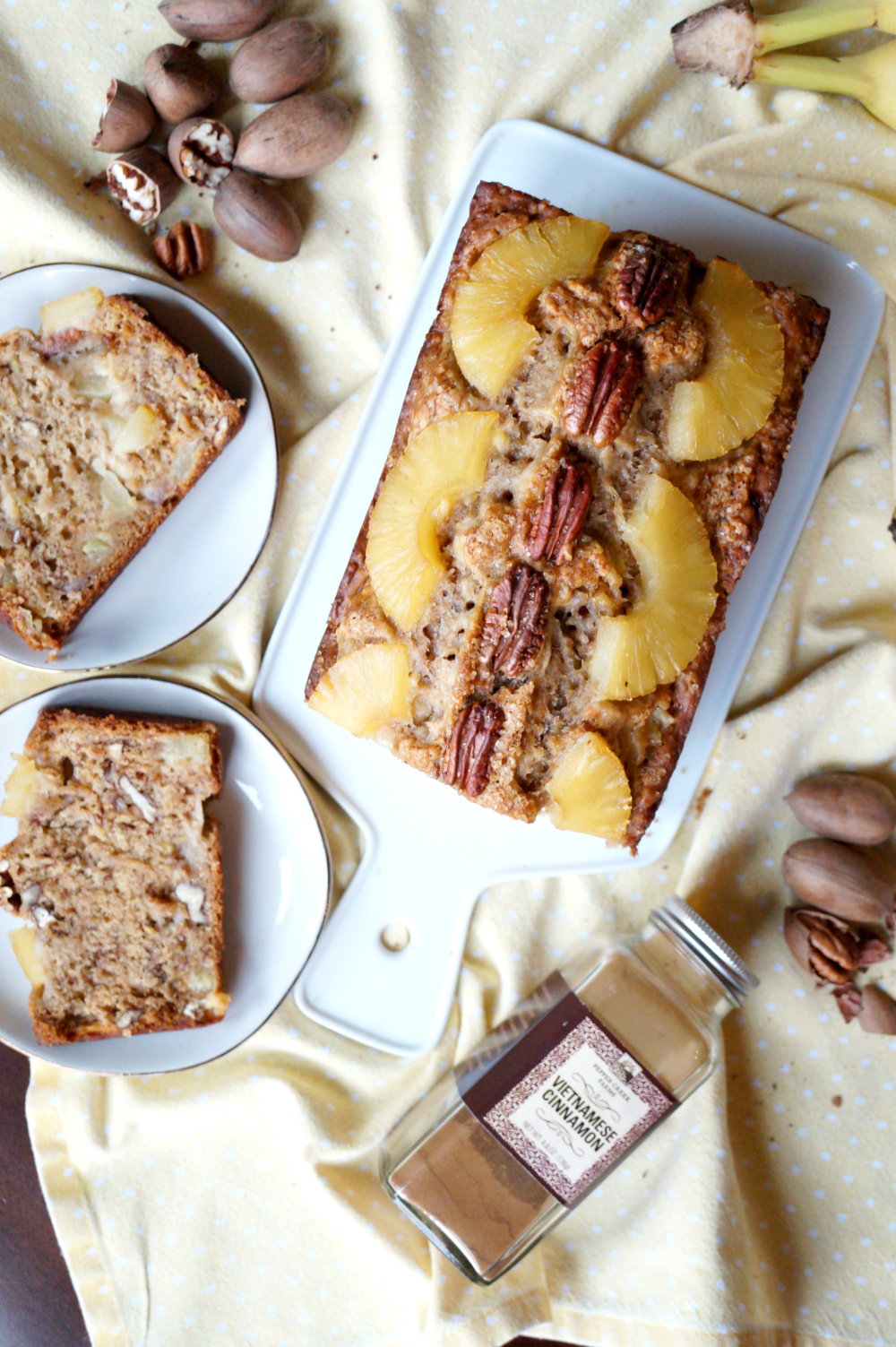 vegan hummingbird bread {banana, pineapple & pecan} | The Baking Fairy