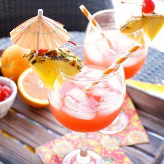 Bahama Mama tropical cocktail | The Baking Fairy