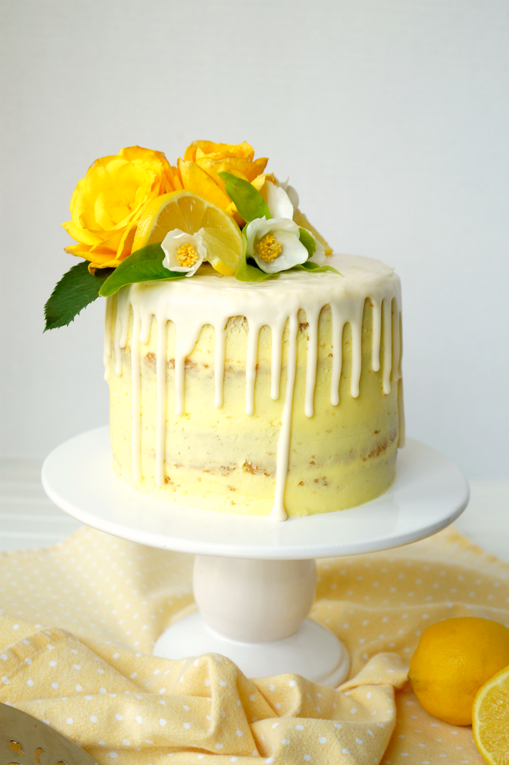 Amazing Vegan Lemon Curd Layer Cake The Baking Fairy Birthday Cards Printable Trancafe Filternl