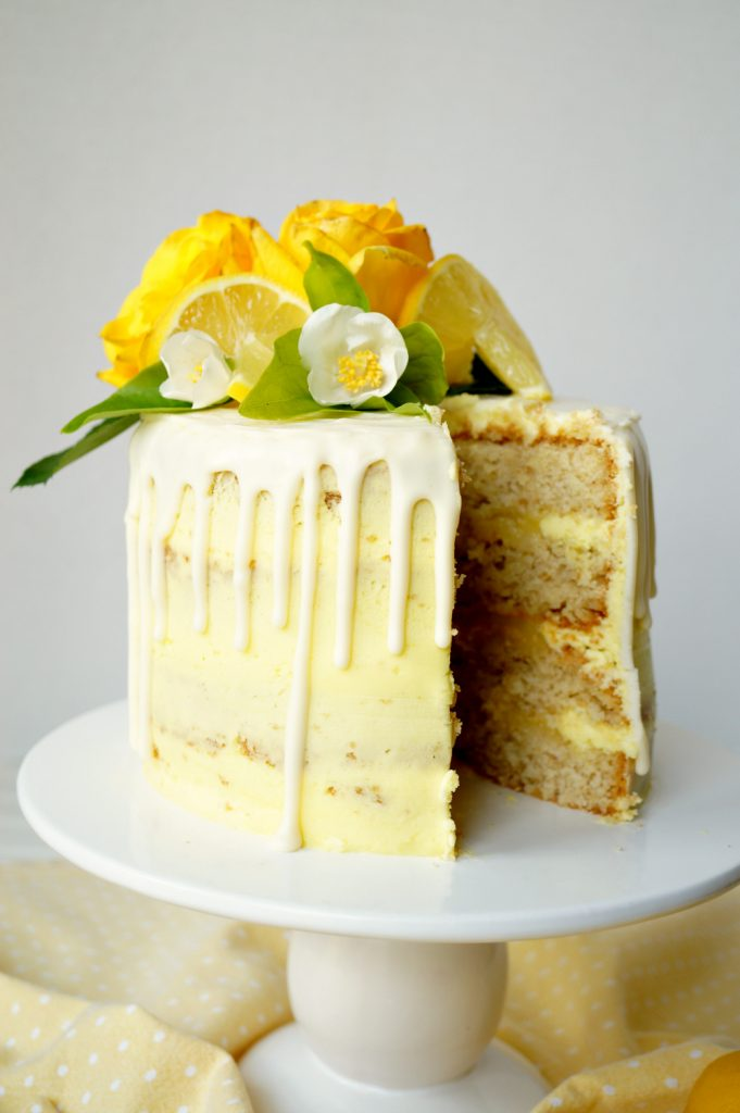 vegan lemon curd layer cake