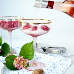 raspberry sorbet sparkling rosè floats | The Baking Fairy