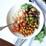 vegan roasted ratatouille sheetpan meal | The Baking Fairy