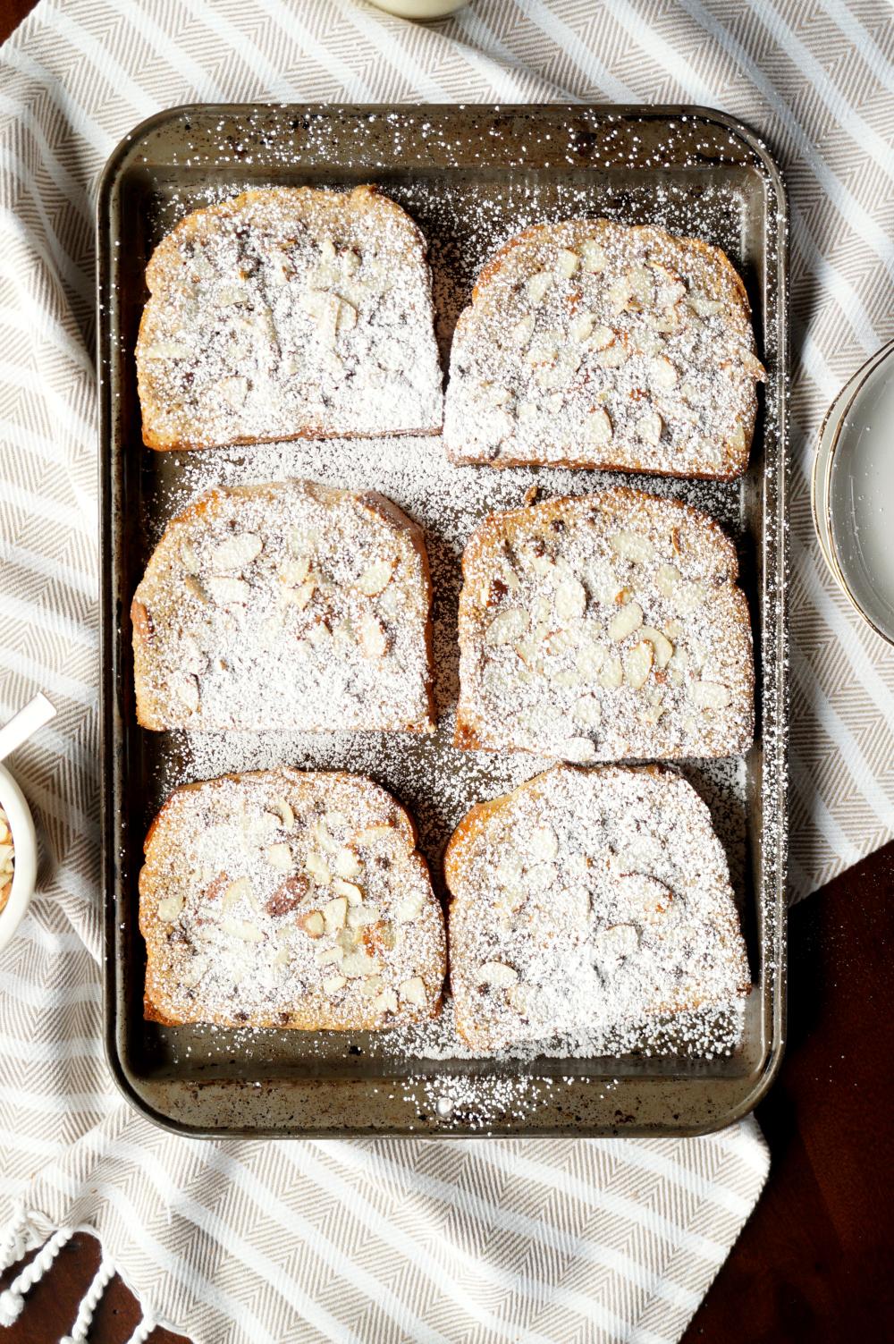 almond chocolate chip brioche bostock | The Baking Fairy
