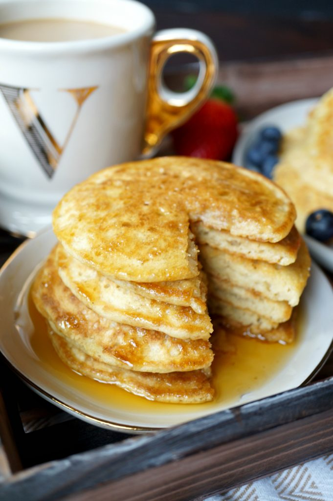 fluffy vegan buttermilk pancakes