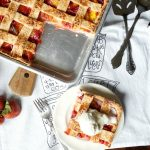 vegan strawberry, mango, and peach slab pie | The Baking Fairy