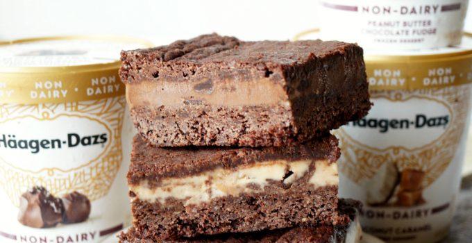 vegan brownie ice cream sandwiches