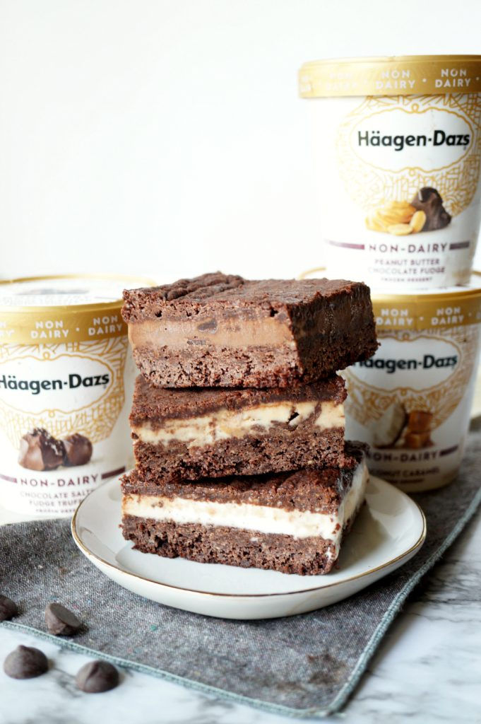 vegan brownie ice cream sandwiches