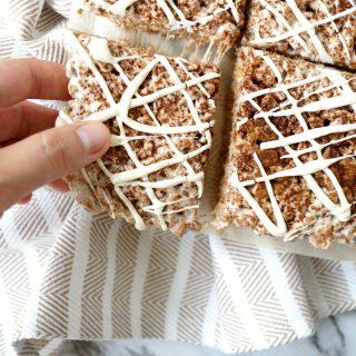cinnamon roll rice krispie treats | The Baking Fairy