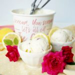 lemon curd raspberry homemade ice cream | The Baking Fairy