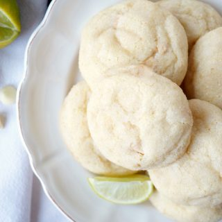 white chocolate lime sugar cookies | The Baking Fairy