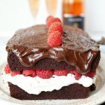 vegan dark chocolate raspberry shortcake loaf | The Baking Fairy