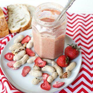 homemade strawberry peanut butter | The Baking Fairy