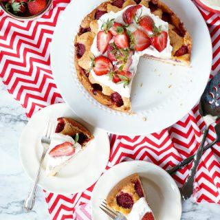 strawberry olive oil cake | The Baking Fairy #FarmersMarketWeek