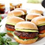 vegan burger sliders with avocado and eggplant bacon | The Baking Fairy #MorningStarFarms #MakeRoomOnYourGrill