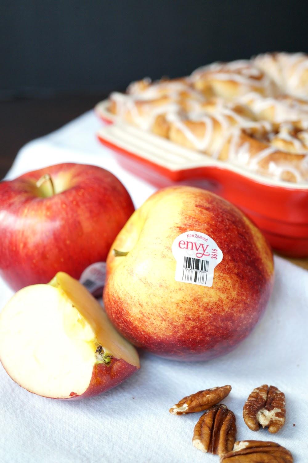 vegan apple pie cinnamon rolls #AppleWeek | The Baking Fairy