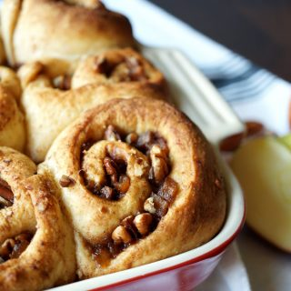 vegan apple pie cinnamon rolls #AppleWeek | The Baking Fairy