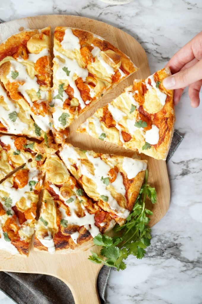 vegan buffalo cauliflower pizza | The Baking Fairy