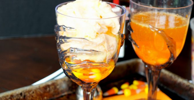 vanishing candy corn cocktails #HalloweenTreatsWeek