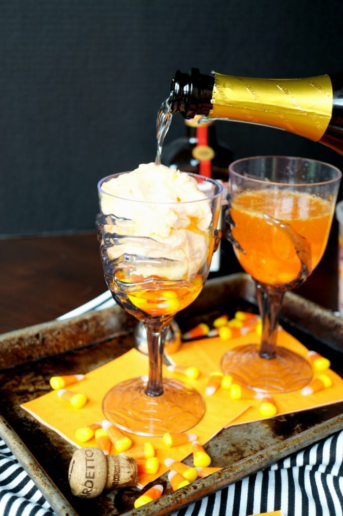 vanishing candy corn cocktails #HalloweenTreatsWeek | The Baking Fairy
