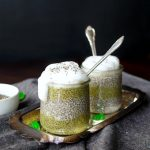 frog eggs matcha chia pudding | The Baking Fairy #HalloweenBreakfast