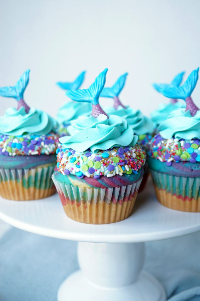 mermaid birthday cupcakes | The Baking Fairy
