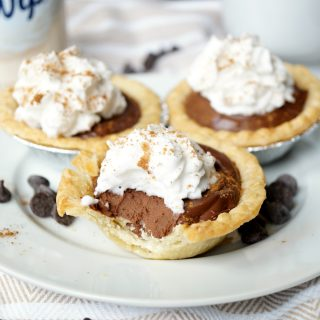 vegan mini chocolate chai pies | The Baking Fairy #ReddiForNonDairy #ad