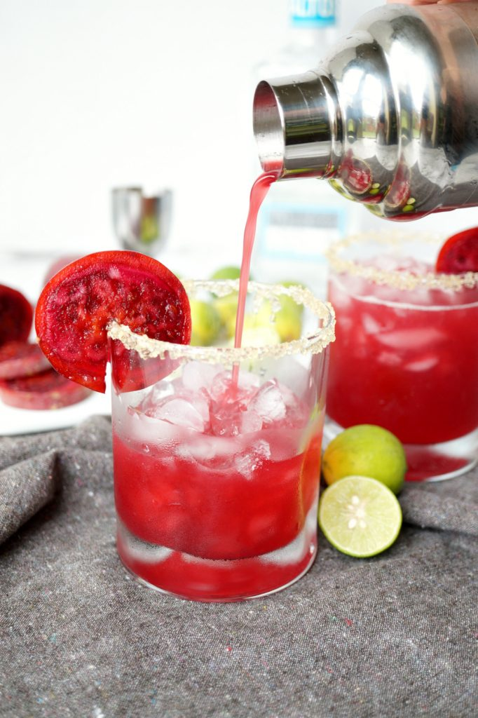 prickly pear margaritas | The Baking Fairy
