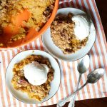 easy pumpkin cobbler with brown butter streusel | The Baking Fairy