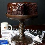 vegan dark chocolate Sacher torte | The Baking Fairy #Choctoberfest #MakeSomethingDivine