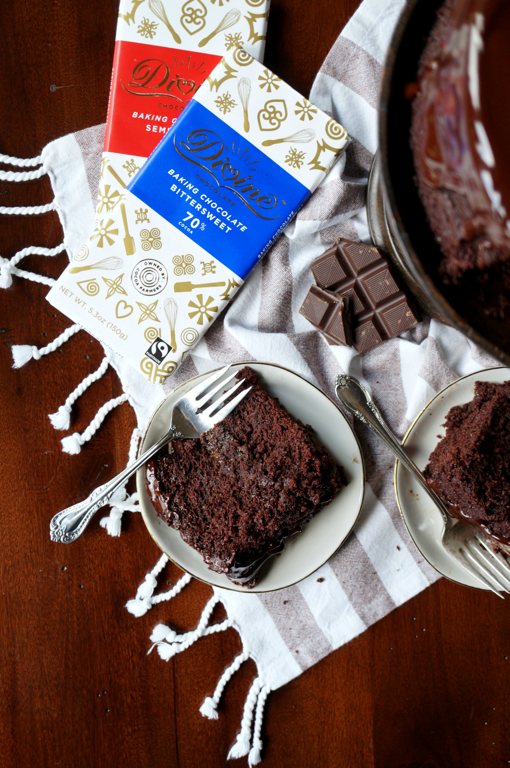 vegan dark chocolate Sacher torte | The Baking Fairy #Choctoberfest #MakeSomethingDivine