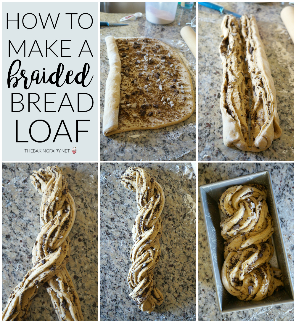 white chocolate mocha braided bread | The Baking Fairy #Choctoberfest