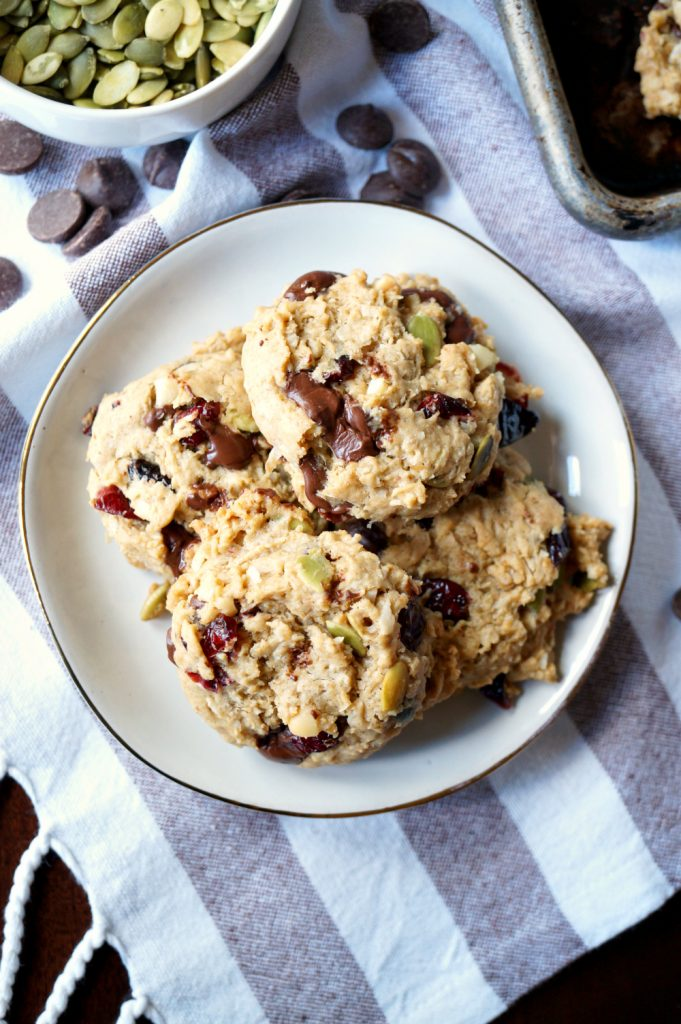 vegan autumn monster cookies | The Baking Fairy