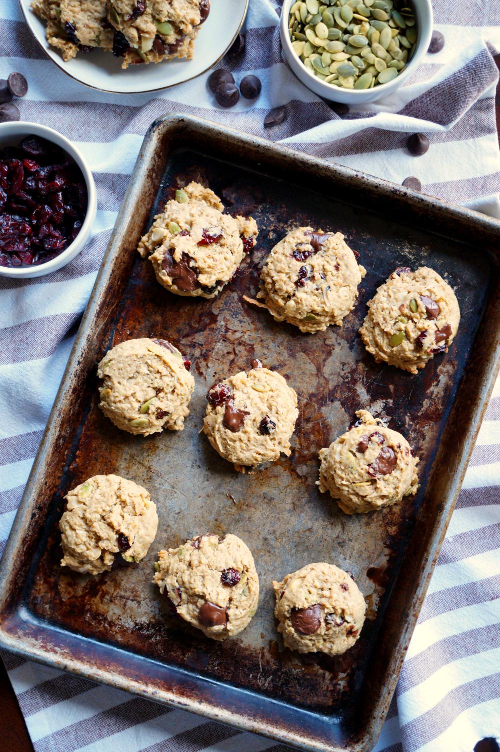 vegan autumn monster cookies   The Baking Fairy