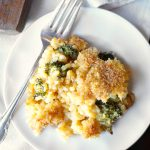 vegan broccoli cheese casserole | The Baking Fairy #HolidaySideDishes