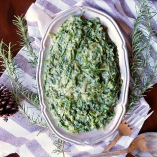 vegan creamed greens {spinach, kale, and chard} | The Baking Fairy #HolidaySideDishes