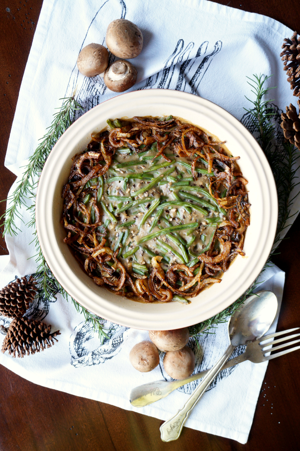vegan green bean casserole from scratch | The Baking Fairy