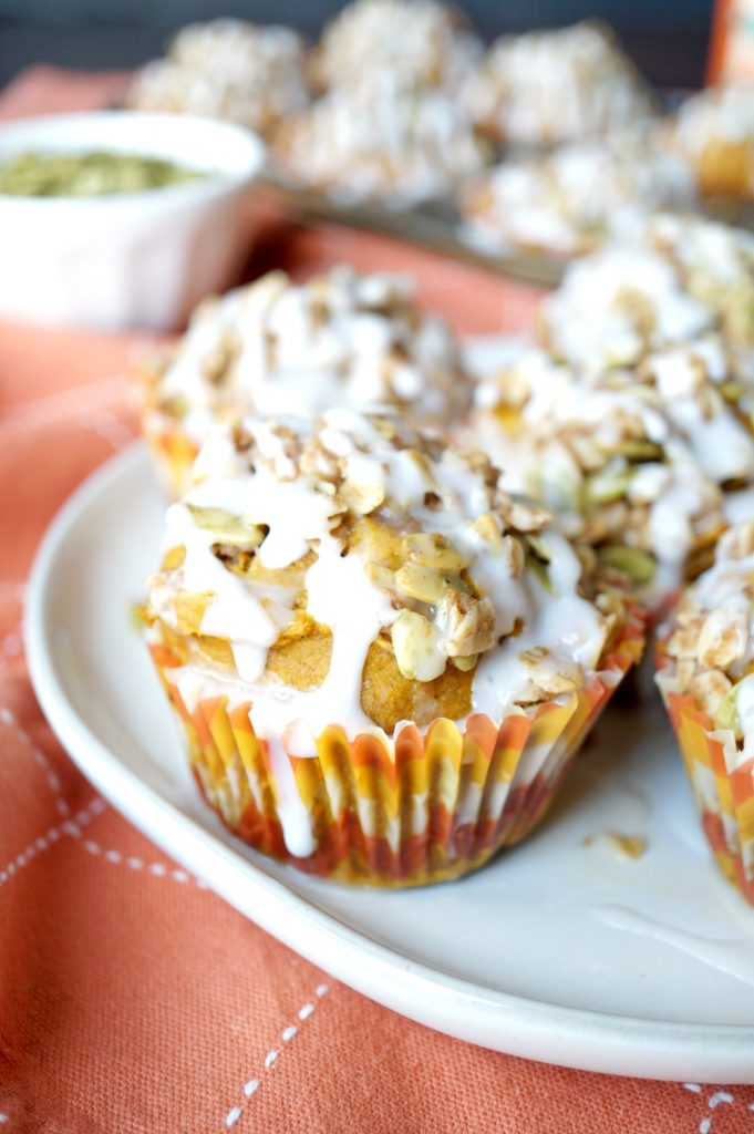vegan pumpkin muffins with brown sugar streusel | The Baking Fairy