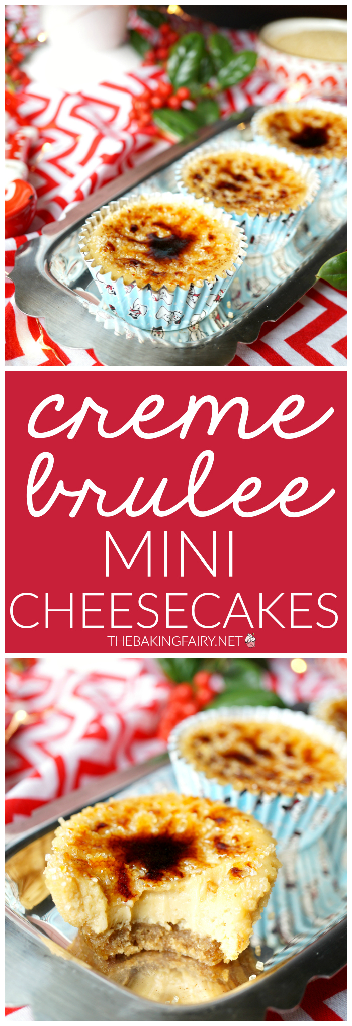 creme brûlée mini cheesecakes | The Baking Fairy #ad #PhillyMakesTheHolidays #ItMustBePhilly #RecipeShare @spreadphilly