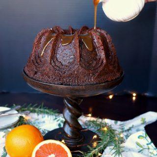 vegan spiced orange date cake | The Baking Fairy