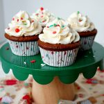 vegan gingerbread cupcakes with eggnog frosting | The Baking Fairy #ChristmasSweetsWeek #ad
