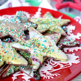 spiced chocolate cutout cookies with marble glaze | The Baking Fairy #ChristmasCookiesWeek