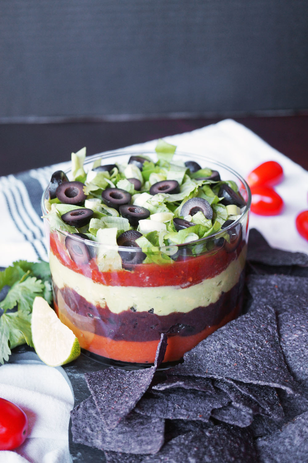 vegan black bean seven layer dip   The Baking Fairy