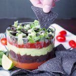vegan black bean seven layer dip | The Baking Fairy