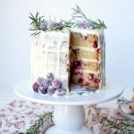 white chocolate cranberry layer cake | The Baking Fairy