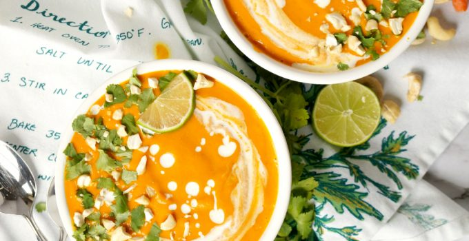 vegan Thai roasted carrot soup