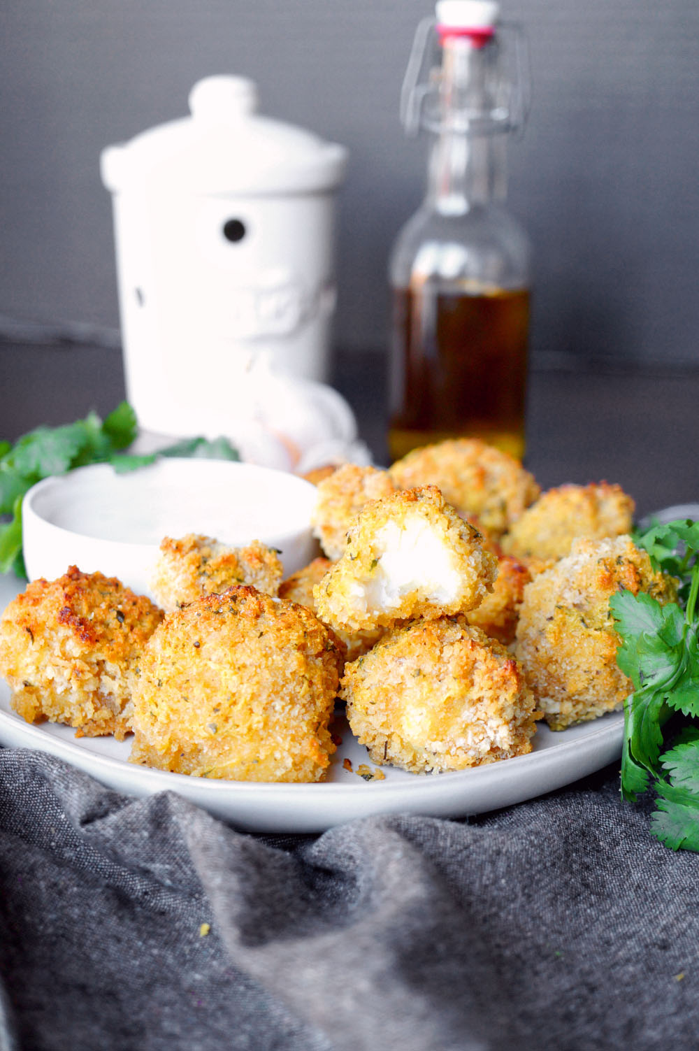 vegan garlic parmesan cauliflower wings | The Baking Fairy