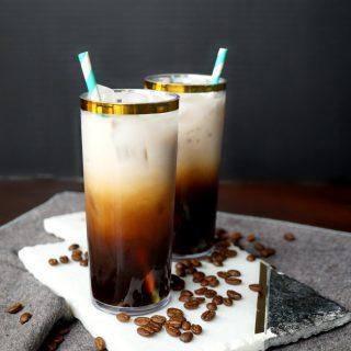 small batch vanilla cinnamon cold brew latte | The Baking Fairy