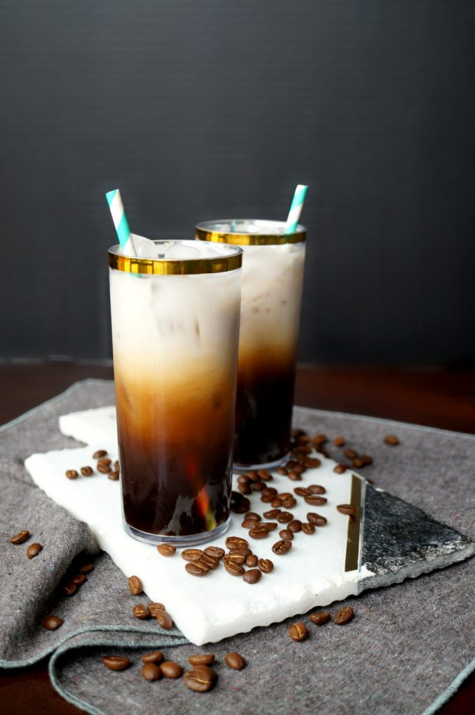 small batch vanilla cinnamon cold brew latte | The Baking Fairy